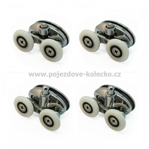 Zvýhodněná sada dvoj koleček A080 (2ks horní, 2ks spodní). Skladem jenom v šedé barvě!